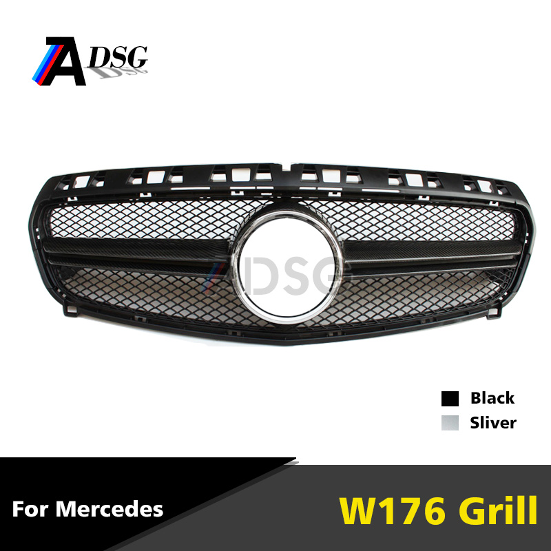 Mercedes A class W176 carbon fiber front ABS grill