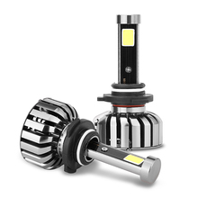 IP68 9006 Turbo Cool Fan COB LED Car Headlight with Approvals