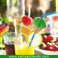 Updated customized crazy plastic party straw