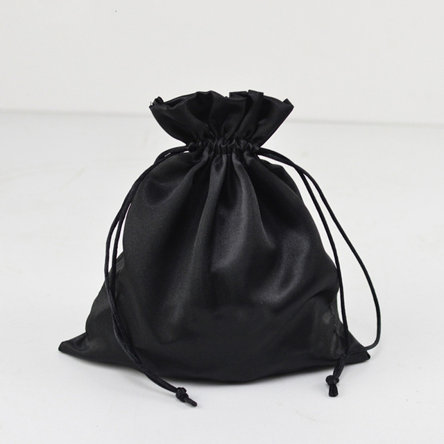 Unique Satin Hair Bag With Tassel Ear Drawstring Packaging Pouch