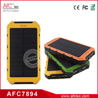 wholesale outdoor waterproof universal 8000mah best portable solar power battery mobile chargers with led light