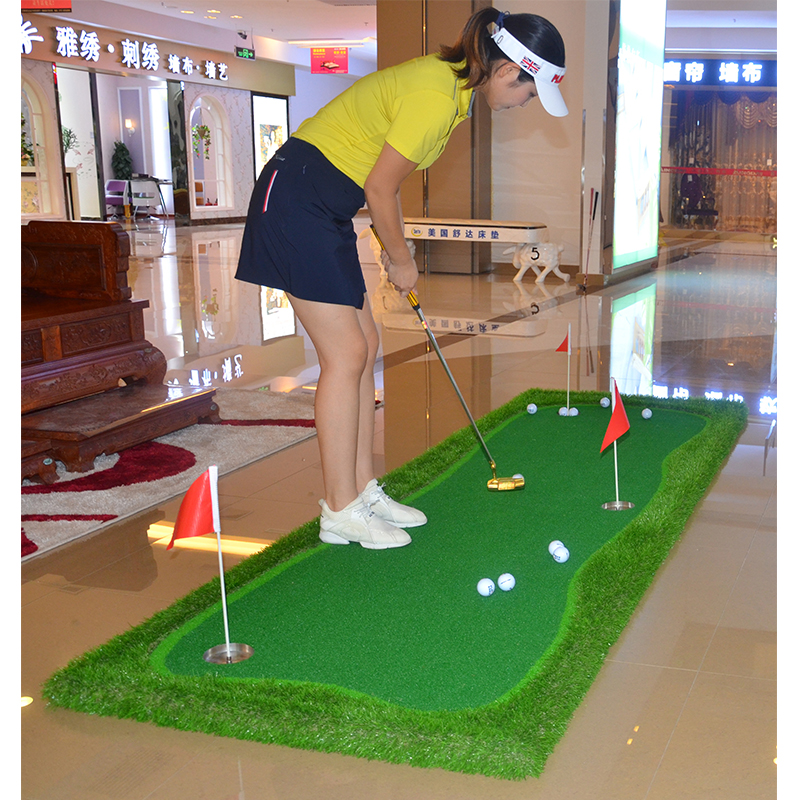 Luxury Mini Golf Putting Green Indoor & Outdoor Golf Mat OEM Backyard Golf Green