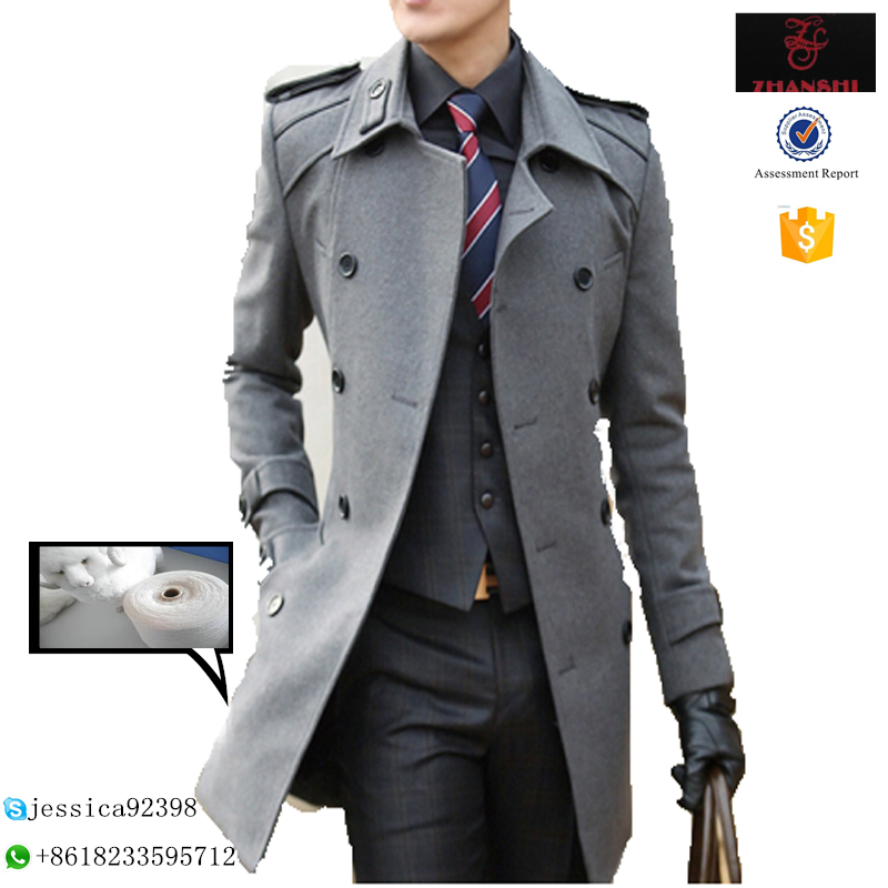 slim fit thick wool coat wool outerwear men's winter coats