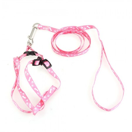 Pet Collars & Leashes Pet Dog Puppy Cat Kitty Nylon Harness Leash Lead Embroidery