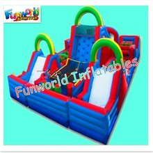 Gaint commercial adult and kids inflatable tunnel obstacle course bounce for sale (OBS-289)