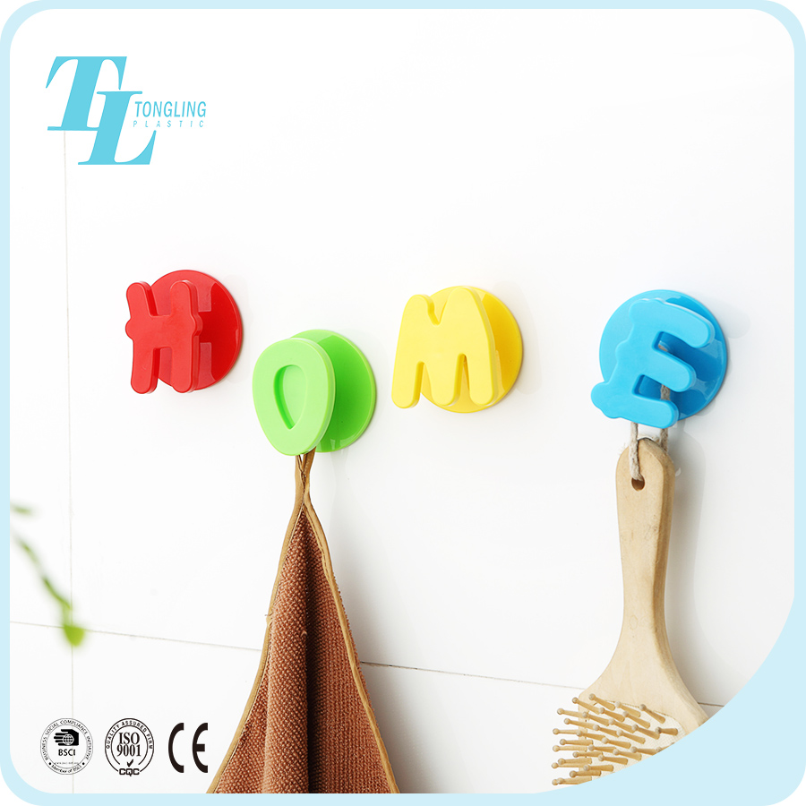 Fashion wholesale custom logo pvc self adhesive home ceramic tile wall hook