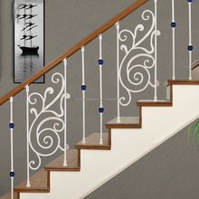 outdoor staircase wrought iron railing handrails metal balcony banisters