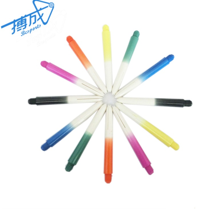 Bcsports High Quality Gradual Color Nylon Dart Shafts/stems