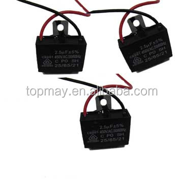 2.5uF Wire Lead Air Conditoner Capacitor CBB61