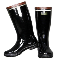 Safe insulation rubber boots 6kv with steel toe