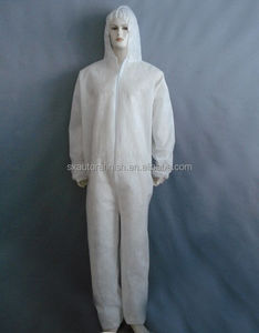 waterproof Disposable PP Coverall Workwear with hood