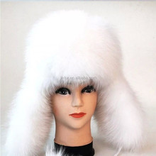 Hot Sale Nature Fox Fur Hat,Russian Style Fur Hat with Top Quality Fox Fur