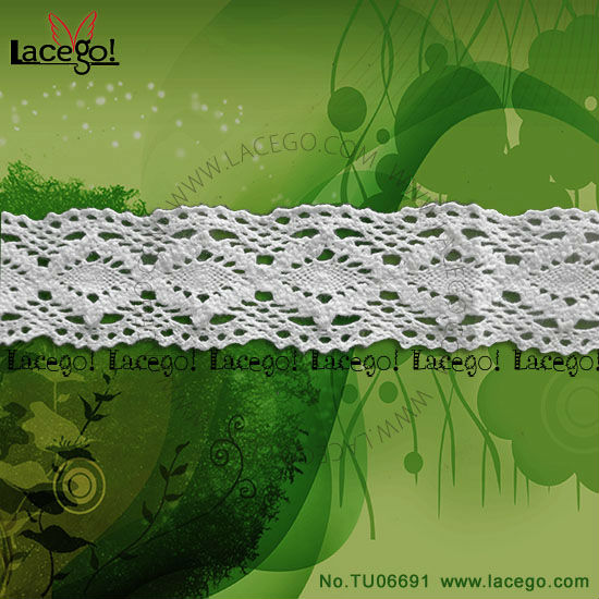 In Stock white cotton Crochet Lace Edging Pattern