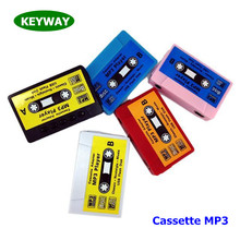 New Trend 2017 Mini Magnetic Tape Mp3 Music Player Cassette Mp3 Player With TF Card Slot For Camping Hiking Outdoor