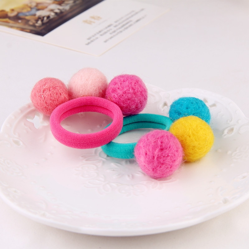 Cute 3 Balls Elastics Hair Holders Bands Gum Fashion Kids Candy Rubber Bands Headwear Girl's Hair Accessories