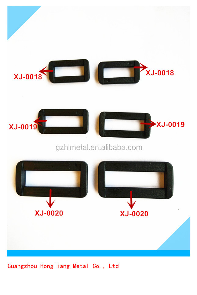 25mm Plastic double side rectangle adjustable buckles belt loop for bags