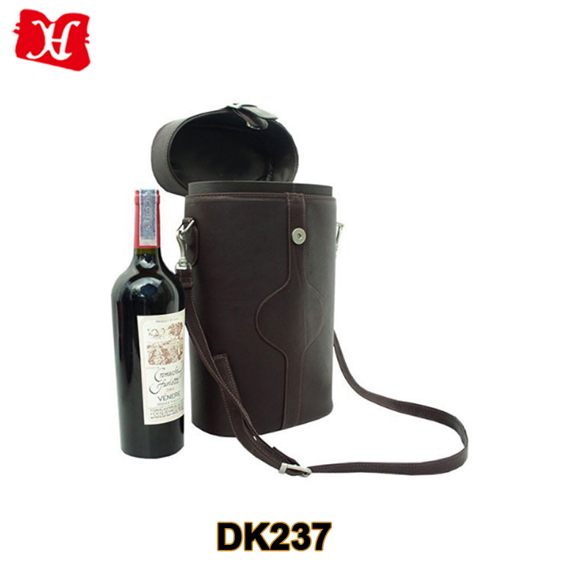 leather wine carrier two bottles leather wine bag