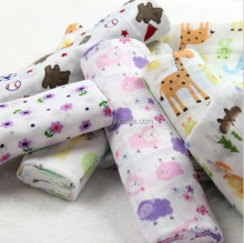 100% cotton muslin swaddle baby receiving blanket