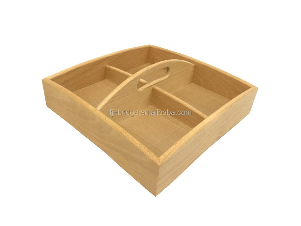 ECO-Friendly kitchen bamboo wood tray caddy