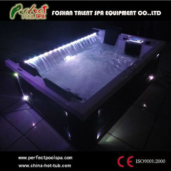Germany design of spa hot tub price with luxury waterfall