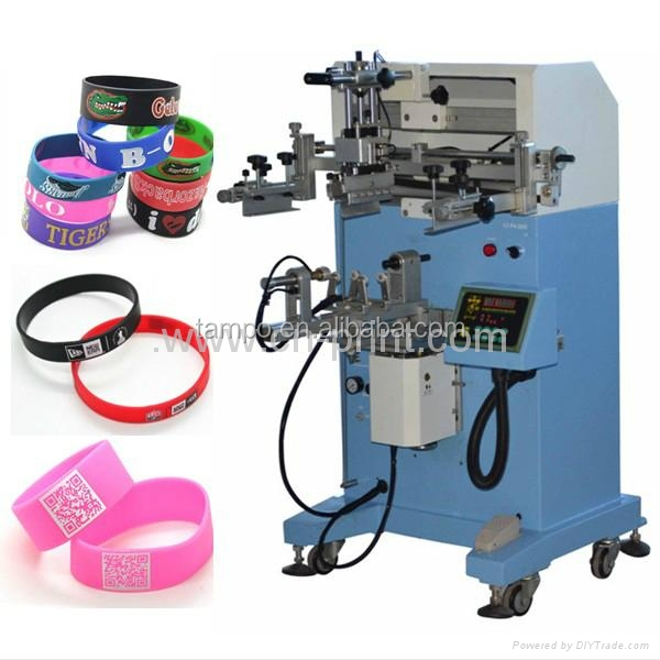 cylindrical screen printing machine for balls with resin application