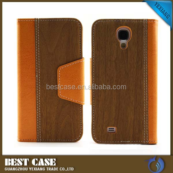 High quality wallet leather case for samsung galaxy s4 i9500 stand cover
