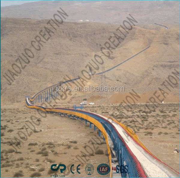 delivery line for port,coal,mining---curved conveyor system