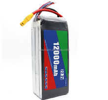 FPV 22.2V 22000mAh 6S lipo battery with 60C rate for automobile starting power batteries