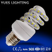 full spiral 7W energy saving bulb led corn light 220-240V E27 base 1 year warranty