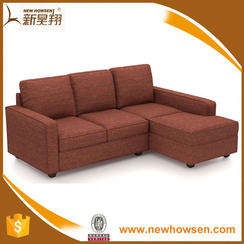 Bedroom Furniture Rexine Fabric Sectional Sofa Design