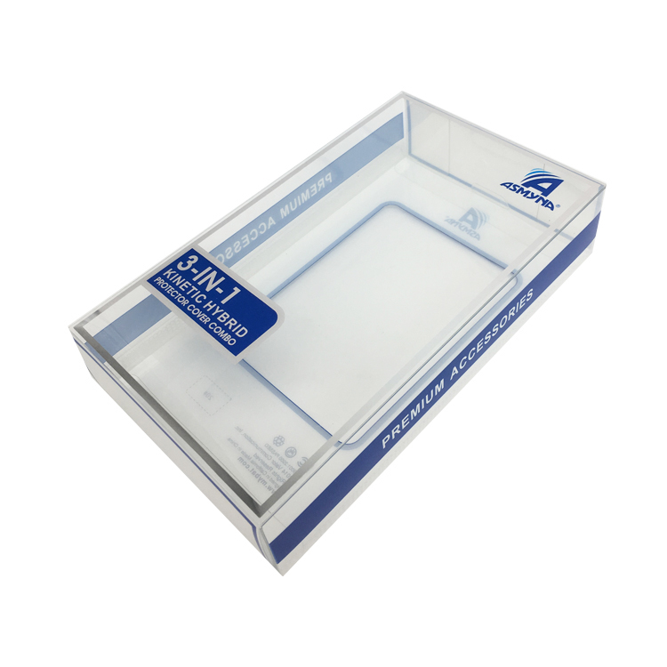 Low price cell phone case PVC hard packaging boxes clear blister plastic packaging box