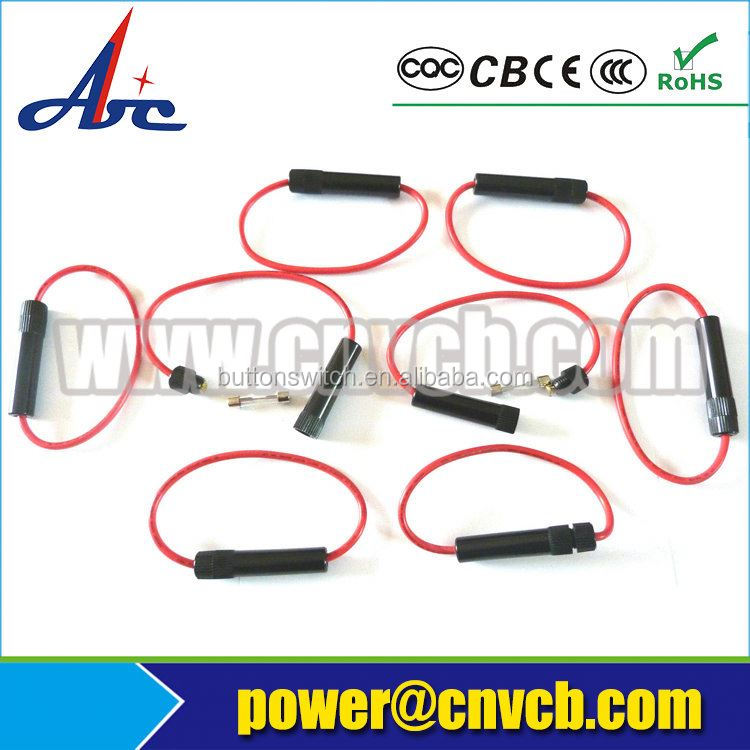 In-Line Car ATC/ATO Blade Fuse Holder Waterproof 10AWG Upto 40A 12V/24V/32V DC