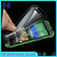 Built in Screen Protector PC TPU Hybrid Dual Layer waterproof Cover Case for HTC One M8