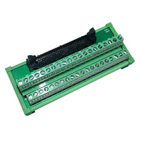 IDC 40Pin to Terminal Block Board 40 Way PLC Converter Din Rail Type IDC40P AWG 22-16 Breakout Board