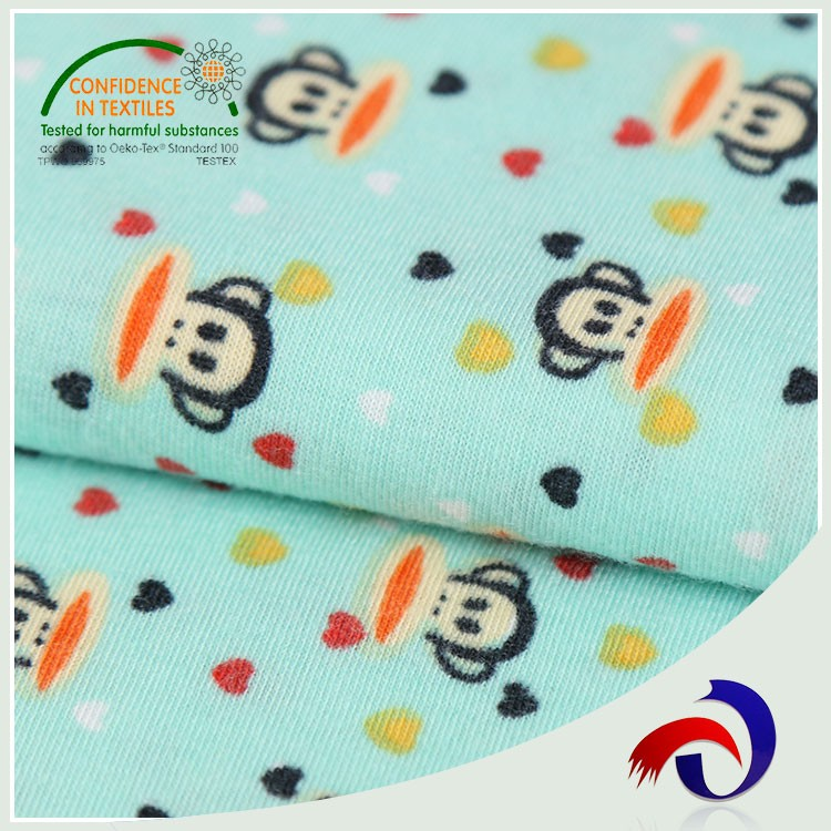 Wholesale knit jersey 100% polyester cambric digital custom printed fabric for children