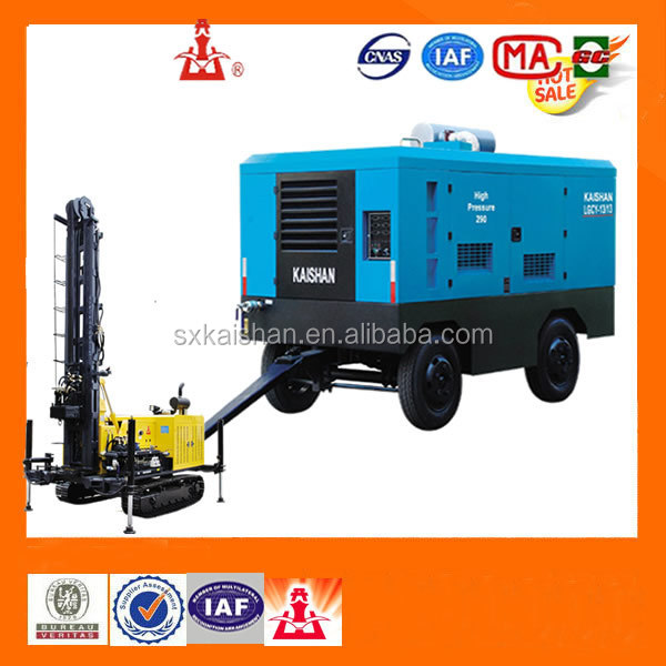 portable small diesel screw air compressor for drill rig , kaishan brands air compressor price list