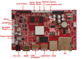 Media decoder board octa core android embedded board with IR remote control