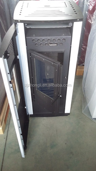 Pellet stove 10kW double doors double glass comprehensive view firesecurity automatic pellet stove