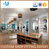 Stainless Wooden Clothing Shop Boutique Display Cabinet