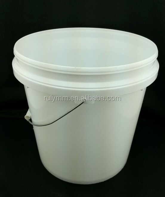 Food grade round shape white 10l plastic pickle bucket for sale