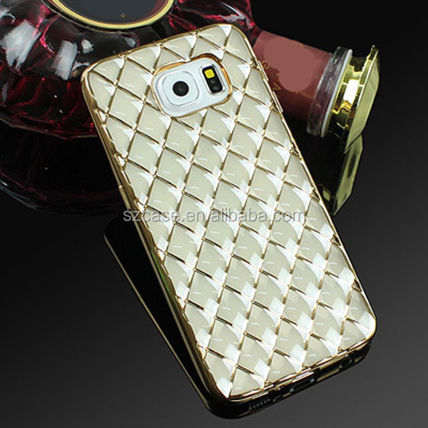 Accessories mobile phone electroplating grid lines tpu case for samsung galaxy s7
