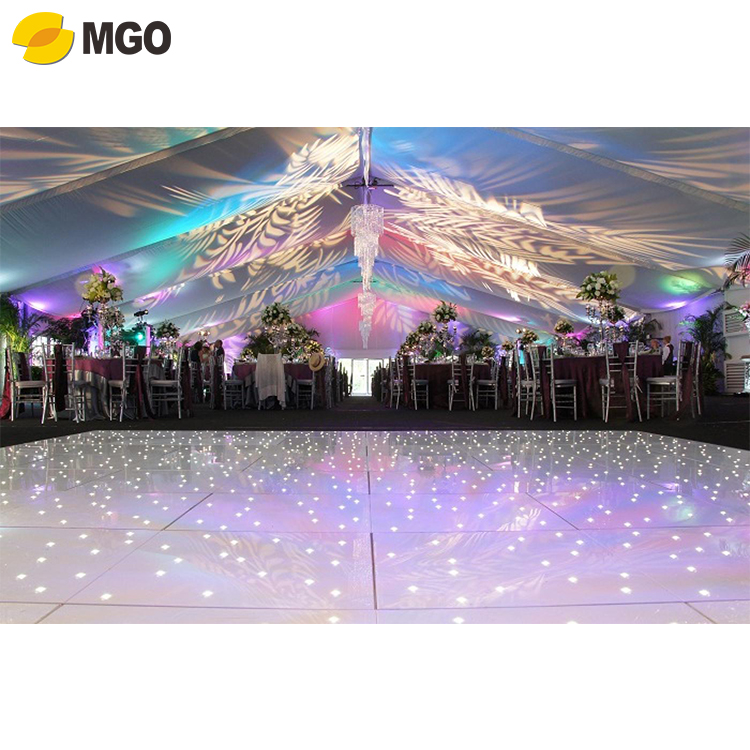 Cheap portable starlit wedding led white Dance Floor