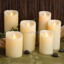 Battery Operated Flicker Real Wax LED Candle with Dancing Flame/ Swing flame Simulated wax LED candle light