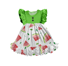 wholesale boutique baby girl dress fashion ruffle girls dress