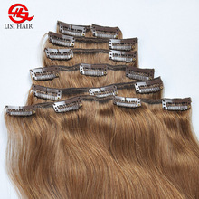 best quality full cuticle remi hair clip in extensions