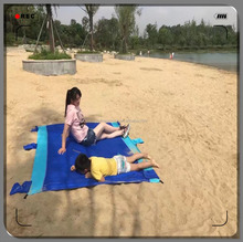 Outdoor Parachute Nylon Ripstop Waterproof Sandproof Beach Picnic Blanket Mat