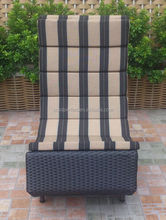 hot sell PE rattan chaise lounge