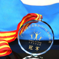2016 wholesale glass medals for souvenir gift