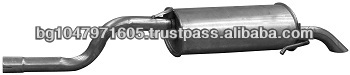 Rear muffler 744162 for RENAULT Clio II