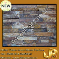Autumn flame slate natural stone veneer panels